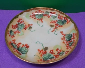 Gold Accented Japanese Saucer