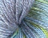 WESTMINSTER - 55 Camel, 45 Silk fingering yarn... 'Florence' - handpainted grey/green/yellow/turquoise yarn