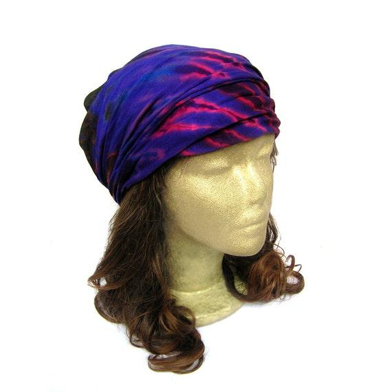 Hippie Tie Dye Headband Hippie Boho Tie Dye Headband