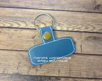 BLANK Rounded Rectangle - In The Hoop - Snap/Rivet Key Fob - DIGITAL Embroidery Design