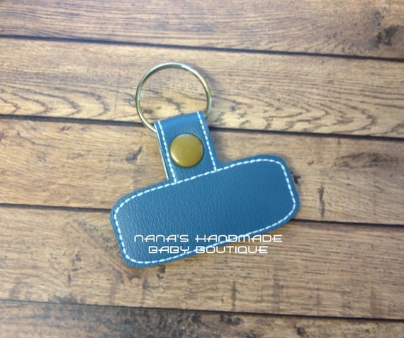 Blank rounded rectangle in the hoop snap rivet key fob