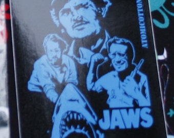 Jaws Vinyl Sticker 3 in x 4 in