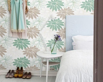Removable Flower self-adhesive modern vinyl Wallpaper wall sticker - Blossom pattern wall sticker C058