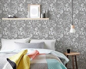 Delicate Bloom self-adhesive vinyl Wallpaper wall sticker - Flower pattern wall art  C065