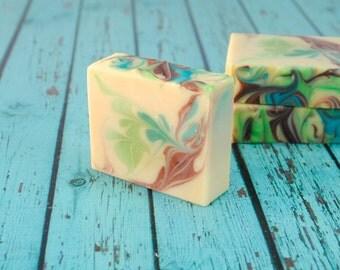 Handcrafted Soap - Coconut Lime Verbena Soap - Coconut Lime Goat Milk Soap - Tropical Artisan Soap - Coconut Lime Scented Goat's Milk Soap