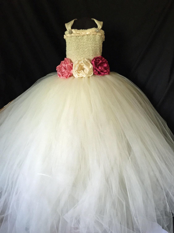Ivory Flower Girl Dress Tutu by RedCarpetTutus on Etsy