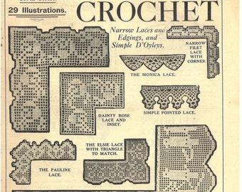Original Publication: Weldon's Crochet Laces, Edgings & Simple D'Oyleys