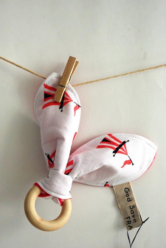 Image du produit DESTOCKAGE Anneau de dentition Doudou Lapin BiMatire Bb Montessori Modle Cirque