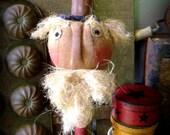 Primitive Americana Folk Art--Uncle Sam Make-Do-Bobbin-Patriotic-USA-July 4-Handcrafted-FAAP, Hafair Team