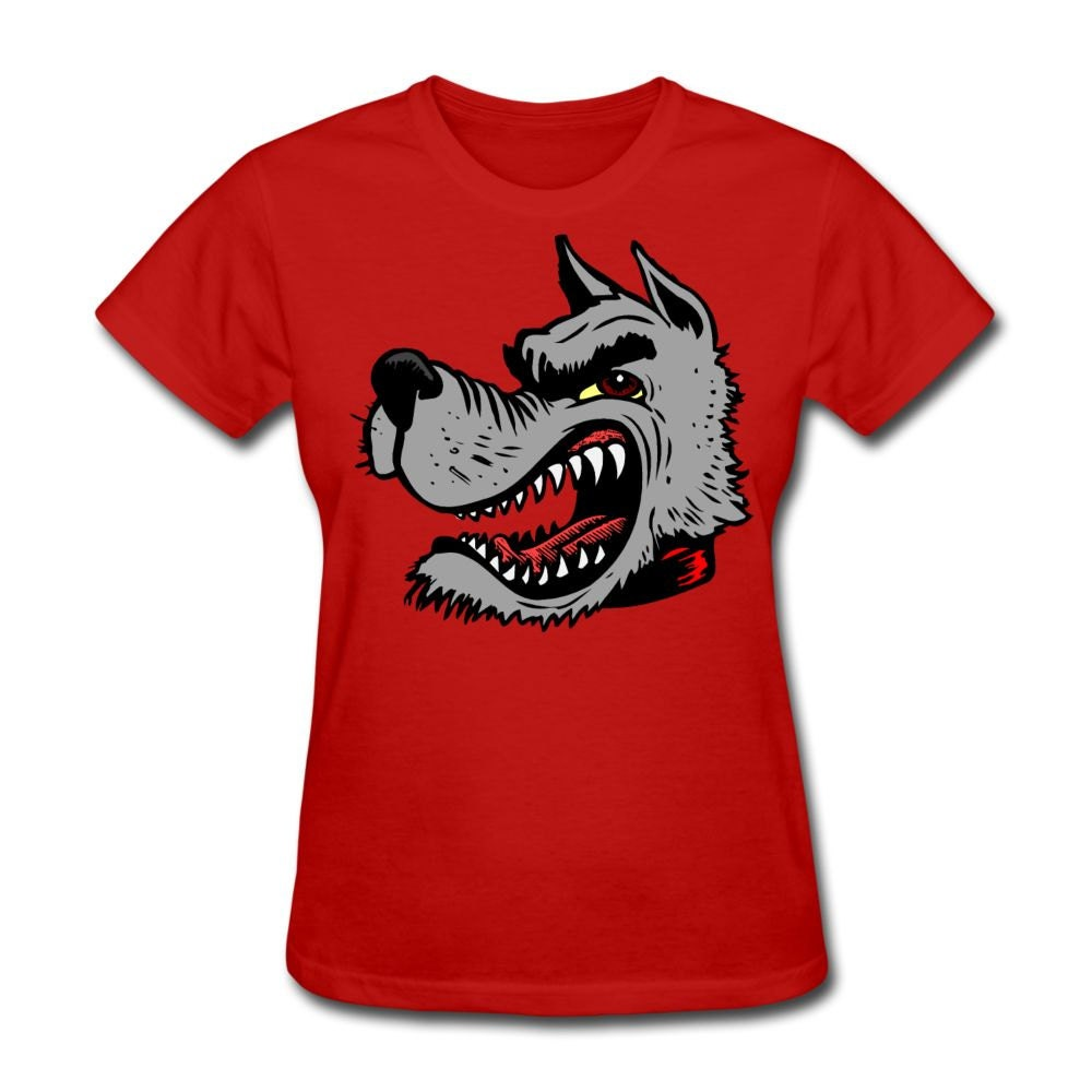 Women 39 S Angry Wolf T Shirt For Nc State Wolfpack By