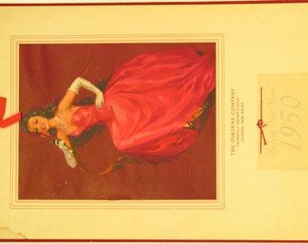 Original Vintage Do You Remember J. Erbit Calendar Print