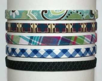 Skinny Headband Adjustable Blue Hairband Summer Headband 1/2 inch Hairband Preppy Headband for Women and Girls Best Selling Items