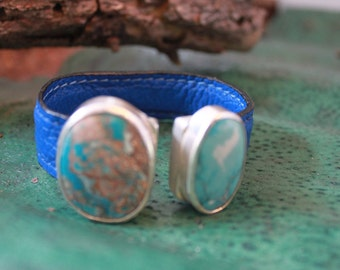 STERLING,NATURAL TURQUOISE Cuff,hand made bracelet,one of a Kind!