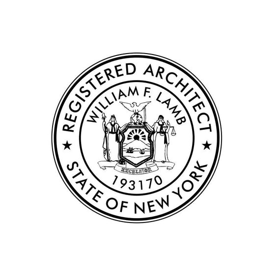 New york architect seal self inking from underdogpress for New york state architect stamp