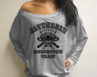 Slytherin Quidditch Harry Potter Parody Women's Long Sleeves Shirt