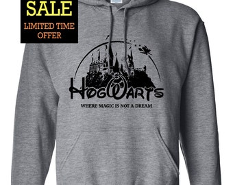 Hogwarts Campus Castle Harry Potter Geek Parody Unisex Pullover Hoodie Sweatshirt
