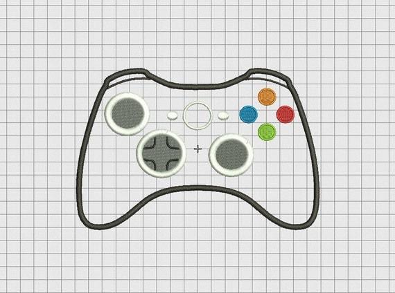 Video game controller microsoft xbox style applique