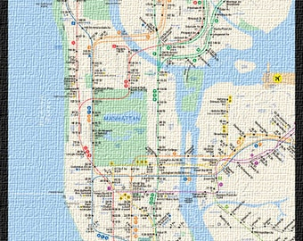 New York City Manhattan Subway (size 610x910mm)