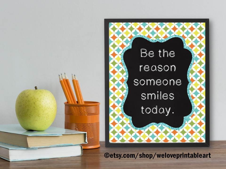 Classroom Decor Etsy : Classroom poster decor inspirational quote be the