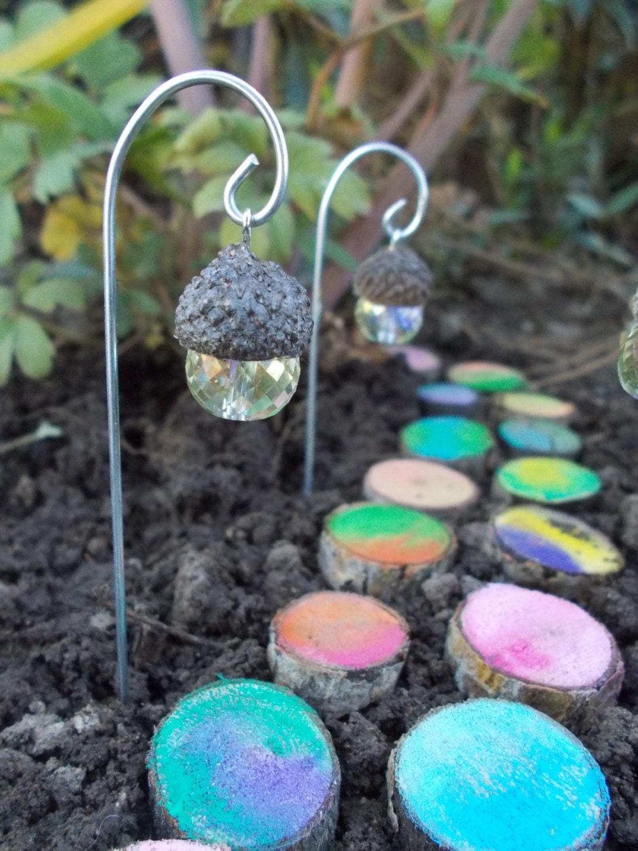 Acorn lantern fairy light fairy garden terrarium by for Garden accessories sale