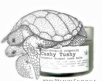 Organic Baby Diaper Rash Cream - 7oz - Cushy Tushy - Organic Diaper Cream - Organic Diaper Balm - Natural Baby Balm