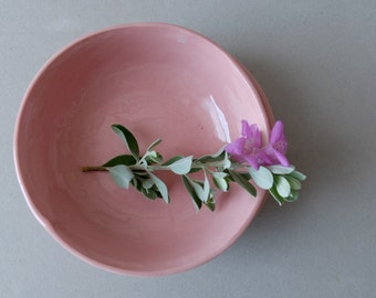 Jewelry Holder, Ring Dish, Pink Dishes, Candle Votives, Small Dish, Snack Dish, Trinket Dish, Pottery Bowl, Gift For Her, SCULPTUREinDESIGN