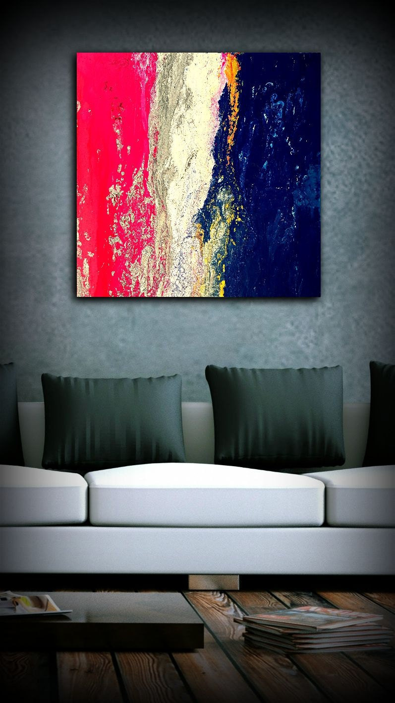pink blue painting 36x36 abstract painting acrylic painting abstract wall art large wall art. Black Bedroom Furniture Sets. Home Design Ideas
