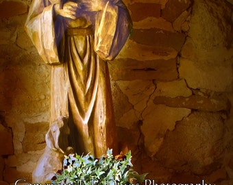 Statue of St. Francis of Assisi - High Quality Photographic Print