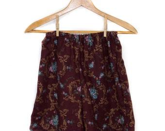 Handmade Maroon High Wasted Shorts