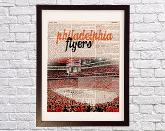 Philadelphia Flyers Dictionary Art Print - Wells Fargo Center - Hockey Art, Philadelphia, Flyers Arena, Orange Crush, Philly Gift