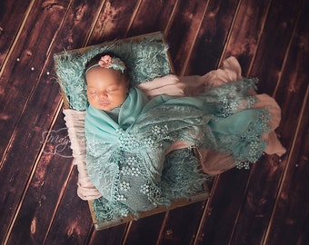 Curly Faux Fur  Sea Foam, Newborn Baby Photo Prop, Flokati Look, Faux Sheep Fur, Luxury Photo Prop,