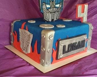 Fondant Transformers Cake Kit
