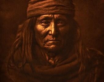 "Native American woman vintage photographic image digital download 99p prints at 5 x 6"""