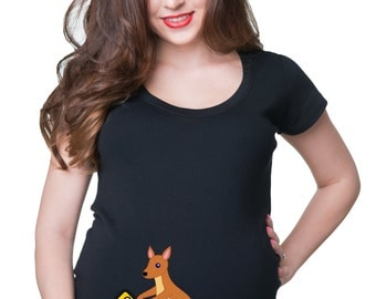 Pregnancy T-shirt Baby On Board Maternity T Shirt Gift for New Mommy Mom Stylish Maternity Top