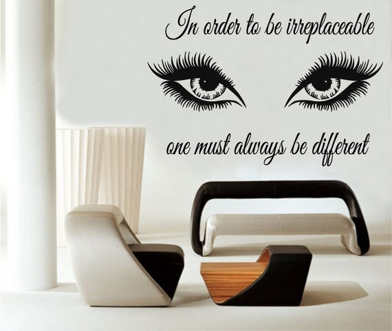 Wall Art Stickers Eyes : Wall decals quote in order to be irreplaceable by