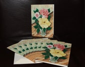Cards - Deb's Roses - Pack of 8 with Envelopes, Story Insert, and Plastic Sleeve
