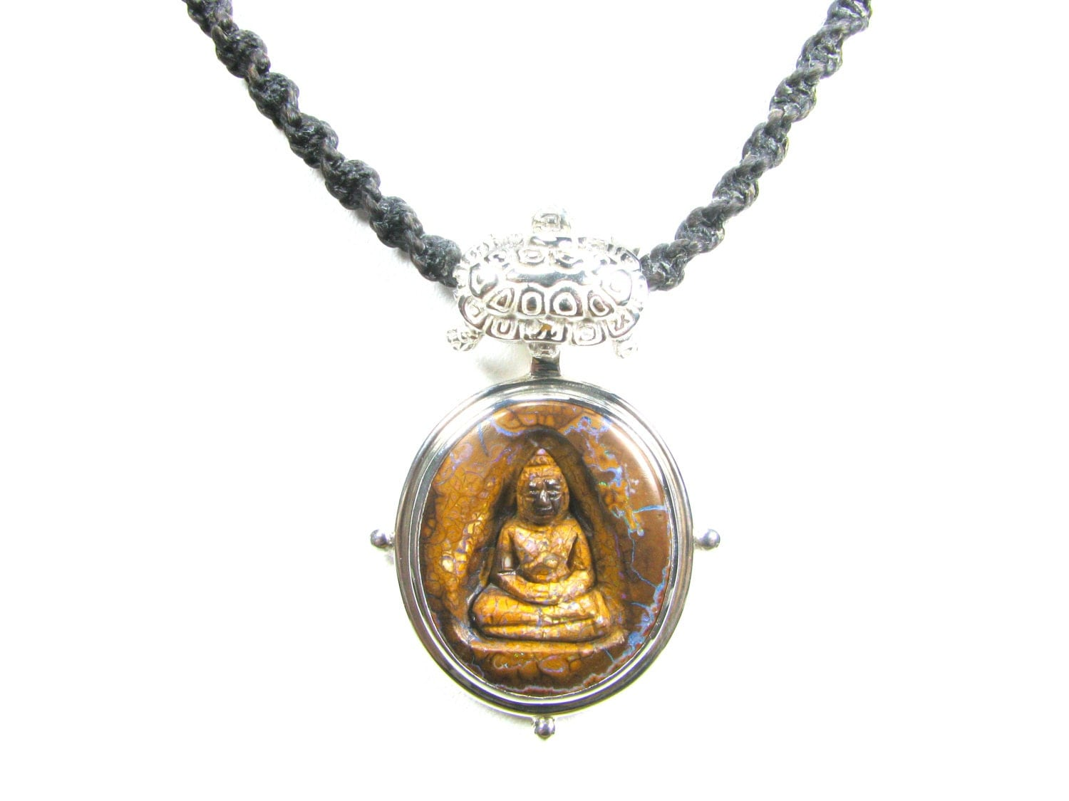 Buddhist jewelry buddha amulet opal necklace by mattiuzjewelry for Zen culture jewelry reviews