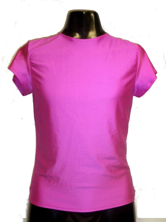 Mens funky tight fit muscle t shirt m medium 34 38 hot for Hot pink running shirt