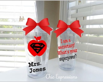 I am a secretary!  What's your superpower?  Done in school colors or any color combo
