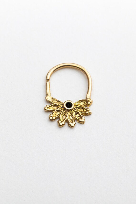 indian septum ring septum ring delicate septum ring by