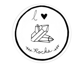 I Love Rocks / Vinyl Sticker
