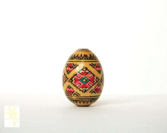 Vintage easter eggs hand painted wooden easter by - Painted wooden easter eggs ...