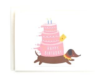 Runaway Birthday Cake - Happy Birthday Card