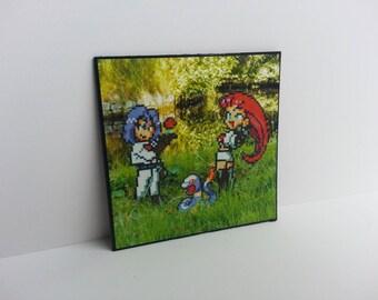 Team Rocket Photo Magnet // Handmade Fridge Magnet // Pokémon perler beads // Mini art print // Gifts under 10