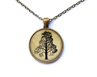Art pendant Tree necklace Cute jewelry CWAO35