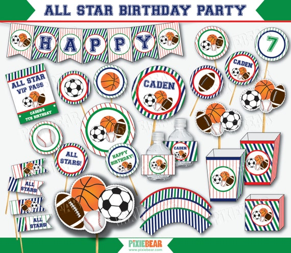 Sports Party Birthday First All