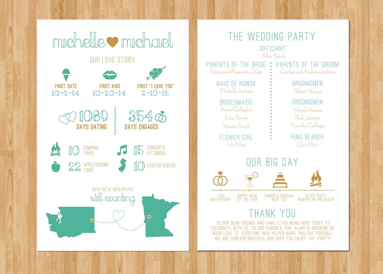 Infographic Wedding Program Printable PDF By ParcelIsland