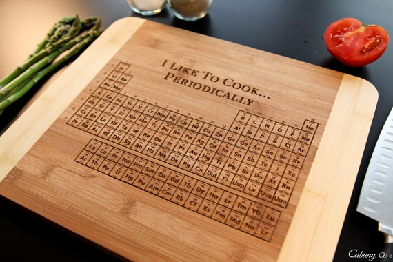 Personalized periodic table of elements cutting board by cabanyco - Periodic table chopping board ...
