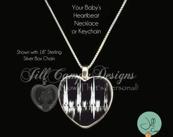 Your Baby's HEART BEAT- Sonogram Heart beat - Ultrasound Jewelry - Heart Beat Necklace - Baby Heart Beat Necklace - Baby Heartbeat Pendant
