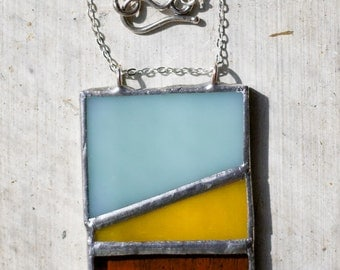 Pearl: Stained Glass Pendant